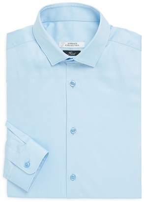 Versace Men's Trend-Fit Textured Dress Shirt