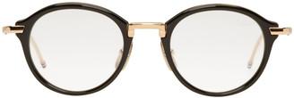 Thom Browne Black TB 011 Optical Glasses $650 thestylecure.com