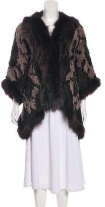 Elizabeth and James Fur Knit Coat