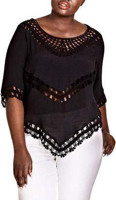 City Chic Sweet Vibe Crochet Top