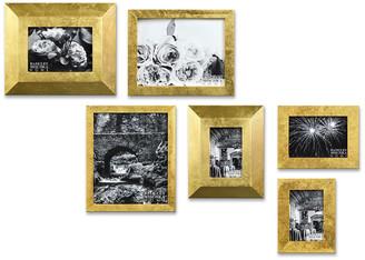 Badgley Mischka HOME Kristina 7 Piece Gold Leaf Gallery Frame Set