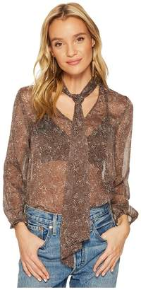 BB Dakota Austell Tie Front Printed Top Women's Clothing
