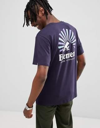 Element Rising Back Print T-Shirt In Navy