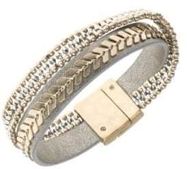 lonna & lilly Faux Leather Bangle Bracelet