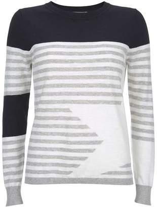 Mint Velvet Grey Stripe & Star Crew Knit
