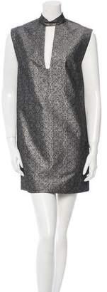 Nomia Sleeveless Brocade Dress