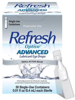 Refresh Optive® Advanced Triple-Action Relief Eye Drop - 30 Single Use Containers $14.89 thestylecure.com