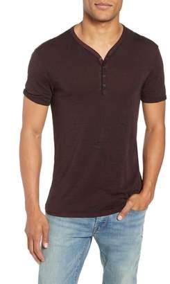 John Varvatos Burnout Henley T-Shirt