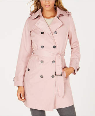 Michael Kors Petite Double-Breasted Trench Coat