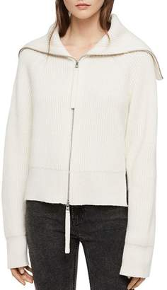 AllSaints Jones Zip-Front Cardigan