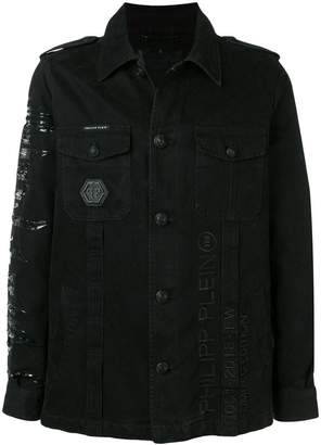Philipp Plein lightweight parka rock jacket