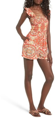Women's Mimi Chica Smocked Romper $39 thestylecure.com