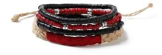 Topman Mens Red Beaded Bracelet Pack*
