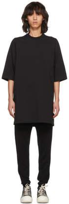 Rick Owens Black Short Sleeve Crewneck Sweatshirt