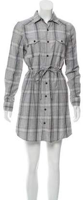 Steven Alan Plaid Button-Up Dress