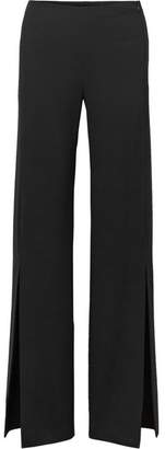 Zaber Wide-leg Stretch-cady Pants - Black