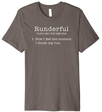 Runderful Funny Quote Running T-Shirt Runner Life Tee