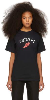 Noah NYC Black Winged Foot T-Shirt