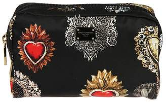 Dolce & Gabbana Small Sacred Heart Print Makeup Bag