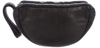 Barbara Bui Leather Zip Wristlet