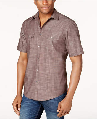 Alfani Men's Warren Textured Short Sleeve Shirt