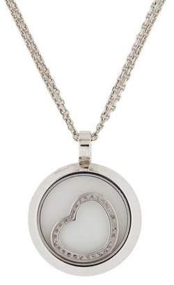 Chopard 18K Diamond Happy Spirit Heart Pendant Necklace