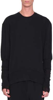 Ann Demeulemeester Black Cotton Grimm Sweatshirt