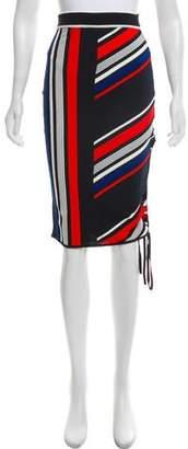 Tommy Hilfiger Gigi x Striped Knee-Length Pencil Skirt