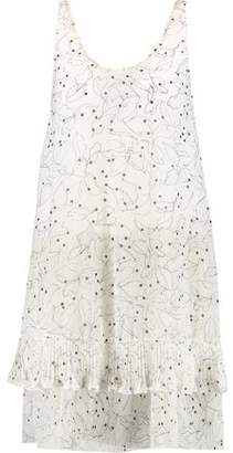 See by Chloe Layered Printed Chiffon Mini Dress