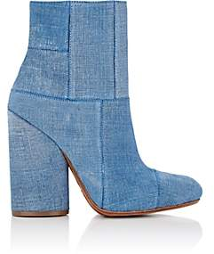 Derek Lam 10 Crosby WOMEN'S EMERY SUEDE PATCHWORK ANKLE BOOTS - BLUE SIZE 5