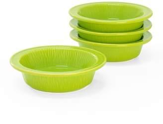 Chantal Lime Green 7 oz. Tart Dish - Set of 4