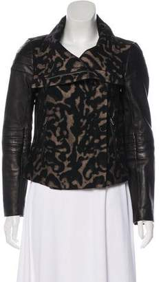 Diane von Furstenberg Crop Leather Jacket