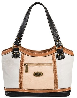 Bolo Women's Faux Leather Tote Handbag with Zip Closure - Grey $44.99 thestylecure.com