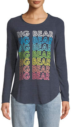 Chaser Big Bear Rainbow Long-Sleeve Graphic Tee