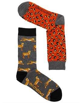 Mitch Dowd Leopard Odd Socks