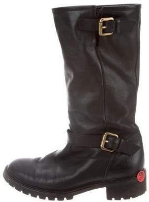 Fendi Fur-Lined Mid-Calf Boots