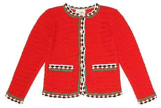 Gucci Kids Crochet cotton cardigan