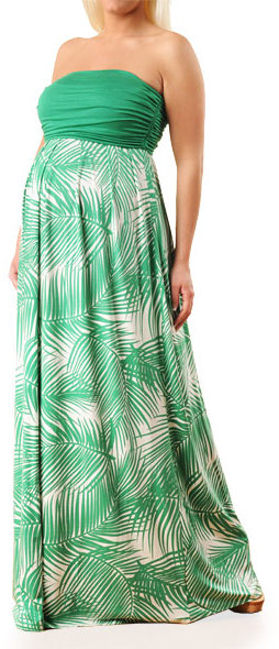 Apeainthepod Strapless Empire Seam Maternity Maxi Dress