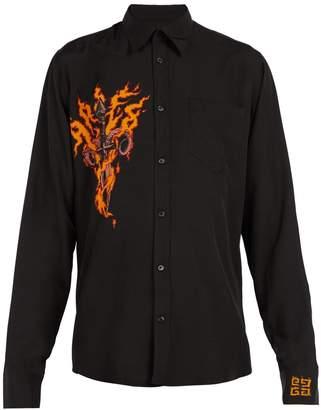 Givenchy Flaming Dagger-print shirt