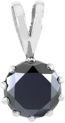 Black Diamond Skyjewels Certified 5.10 Cts Round Simple Silver Pendant Buy Online Sale