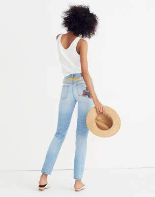 Madewell The Tall Perfect Summer Jean: Strawberry Embroidered Edition