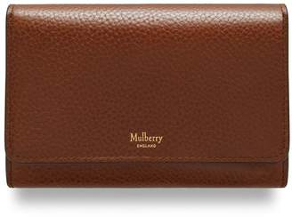 Mulberry Medium Continental French Purse Oak Natural Grain Leather
