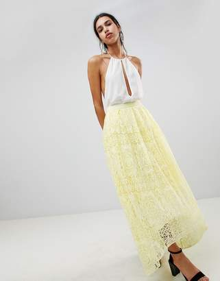 Asos DESIGN lace maxi prom skirt