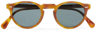 Oliver Peoples Gregory Peck Round-Frame Tortoiseshell Acetate Photochromic Sunglasses - Men - Brown