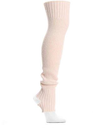 Lemon Ribbed Knit Leg Warmers - Women's