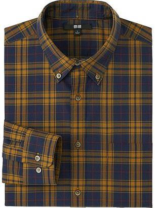 Men Extra Fine Cotton Broadcloth Checked Long Sleeve Shirt $29.90 thestylecure.com