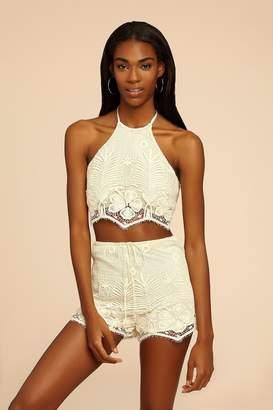 2074a6c9a29 at Orchard Mile · Miguelina Yara Tropical Scallop Lace Drawstring Short
