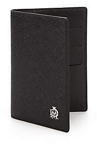 Dunhill Men's Bourdon Leather Business Card Case
