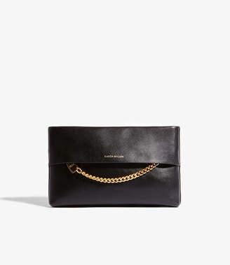 Karen Millen Chain Leather Clutch