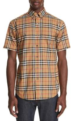 Burberry Jameson Woven Check Sport Shirt